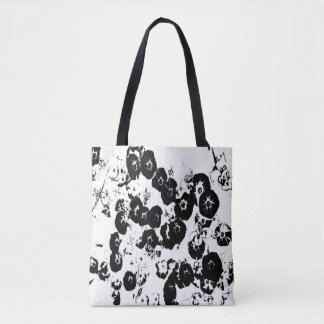 Black Petunias Tote Bag