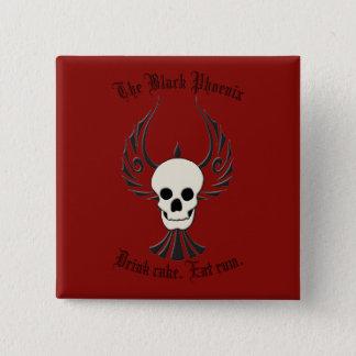 Black Phoenix Button
