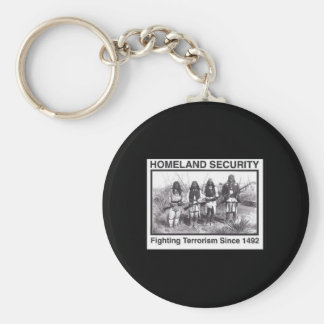 Black Photo Indian Homeland Security Basic Round Button Keychain