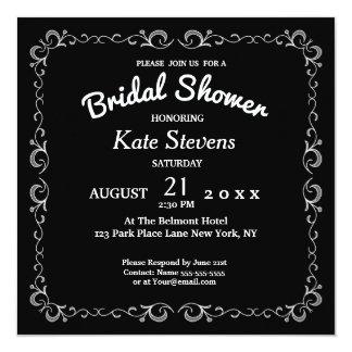 Black Photo Wedding Bridal Shower Card