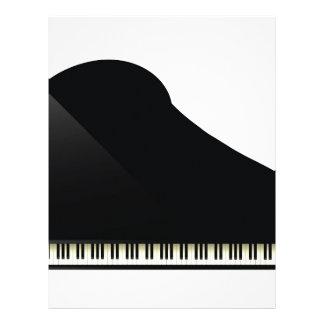 black piano letterhead