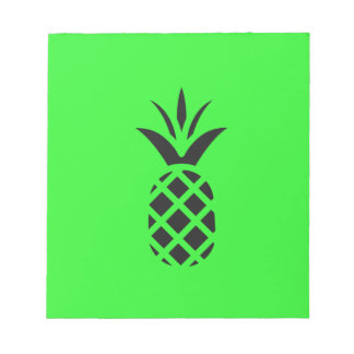 Black pine apple in Green Notepad