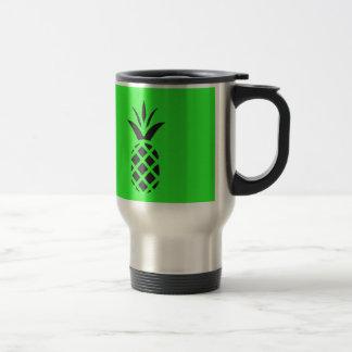 Black pine apple in Green Travel Mug