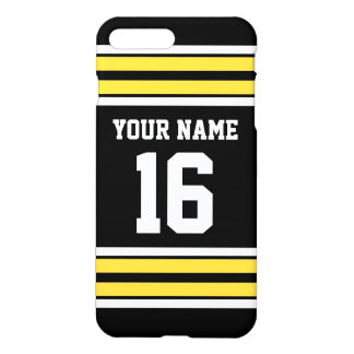 Black Pineapple Yellow Team Jersey Name Number iPhone 7 Plus Case
