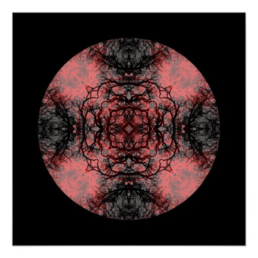 Black, Pink and Gray Gothic Pattern. Posters