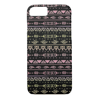 Black, Pink, and Yellow Tribal Boho Pattern Case