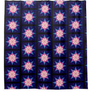 Black Pink Blue Geometric Star Design