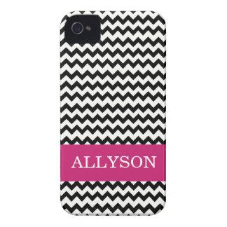 Black & Pink Chevron Case Mate  iPhone 4 Case