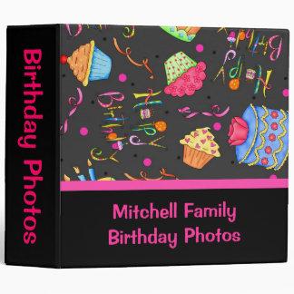 Black Pink Cupcakes Cake Custom Birthday Album Binders