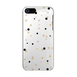 Black Pink Gold Confetti Phone case Incipio Feather® Shine iPhone 5 Case
