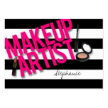Black & Pink Makeup artist Pack Of Chubby Business Cards