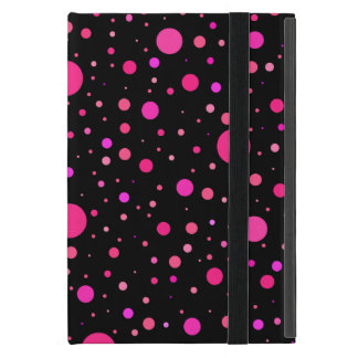 Black pink polka dots case for iPad mini