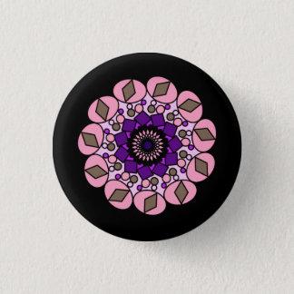 Black Pink Purple  Cosmic Geometric Pin Button