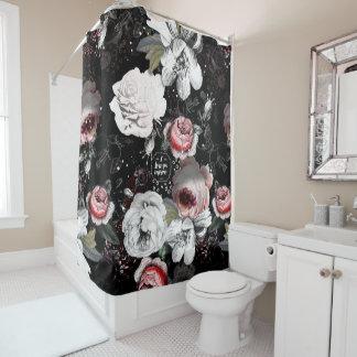 Black & Pink Victorian Rose Floral I Love You More