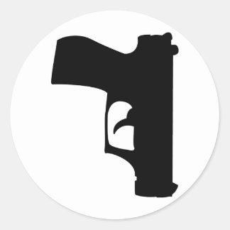 black pistol down round sticker