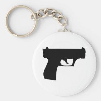 black pistol - gun key chain