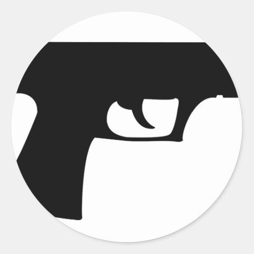 black pistol - gun sticker