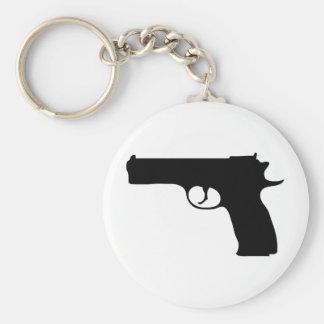 black Pistol icon Keychains