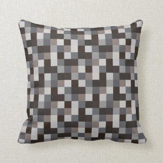 Black Pixels | Pixelated Pattern | Gamer Throw Pillow