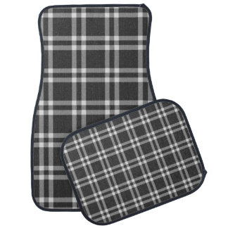 Black Plaid Car Carpet