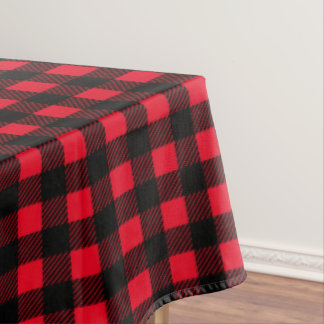 Black Plaid Custom Table Cloth Tablecloth