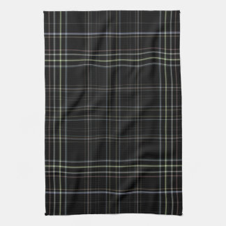 Black Plaid Kitchen Towel