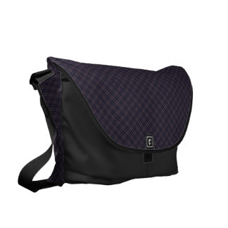 Black Plaid Pattern Commuter Bag