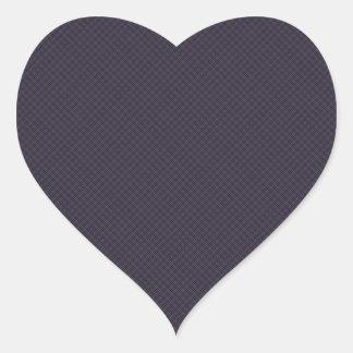 Black Plaid Pattern Heart Sticker