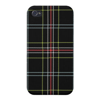 Black Plaid Pattern iPhone 4 Case