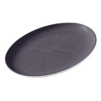 Black Plaid Pattern Porcelain Serving Platter