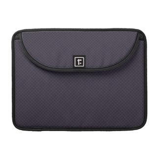 Black Plaid Pattern Sleeve For MacBook Pro