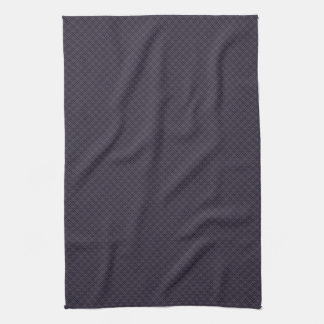 Black Plaid Pattern Towel