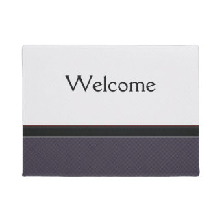 Black Plaid Pattern With Border Doormat