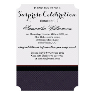 Black Plaid Pattern With Initial Card