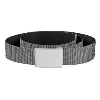 Black Plaid Print Belt