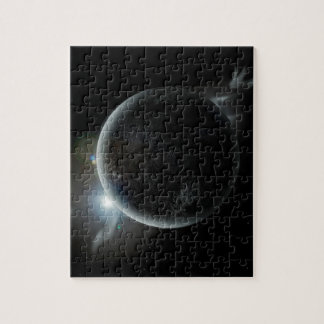 black planet 3d illustration in the universe jigsaw puzzle