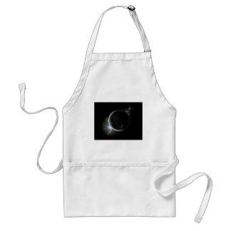 black planet 3d illustration in the universe standard apron