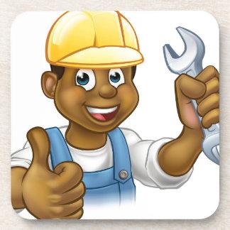 Black Plumber Mechanic or Handyman Coasters