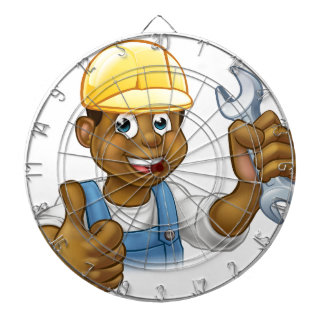 Black Plumber Mechanic or Handyman Dartboard