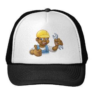 Black Plumber Mechanic or Handyman Trucker Hat