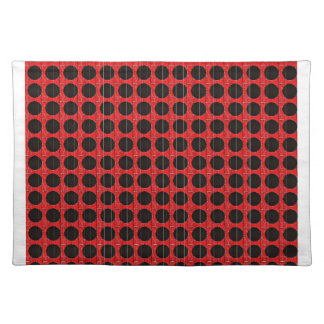 BLACK POKA DOT RED AND BLACK PLACEMAT