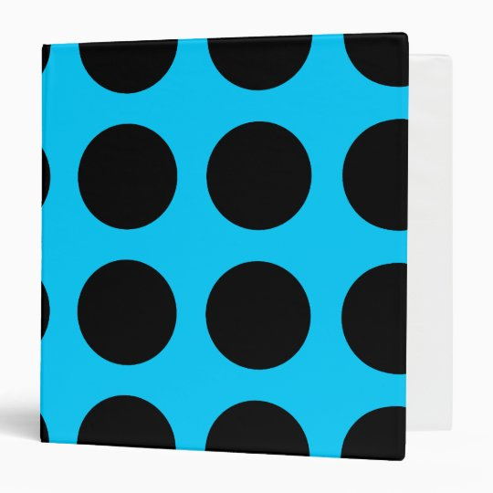 Black Polka Dot Avery Binder