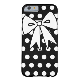 Black Polka Dot Bow iPhone 6 case