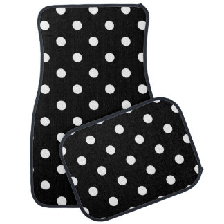 Black Polka Dot Car Mat