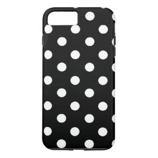 Black Polka dot iPhone 7 plus tough case