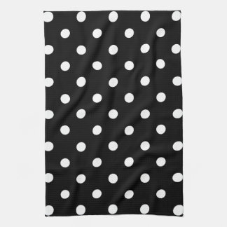 Black Polka Dot Kitchen Towel