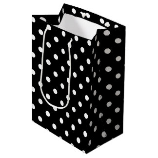 Black Polka Dot Medium Gift Bag