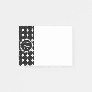 Black Polka Dot Monogram Post-it Notes