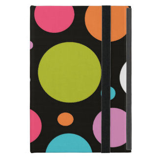Black polka dot pattern iPad mini powis case