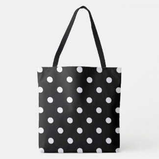 Black Polka Dot Tote Bag